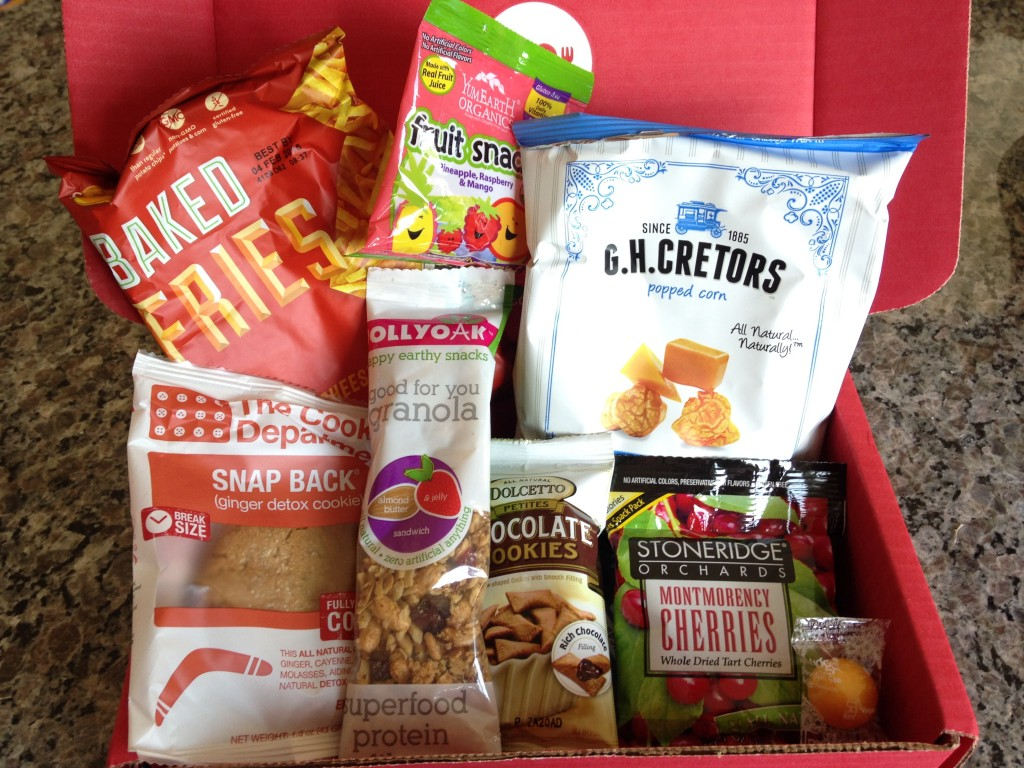 contents of june 2014 love with food box including eight snacks