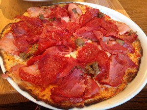 cpk meat lovers thin crust pizza