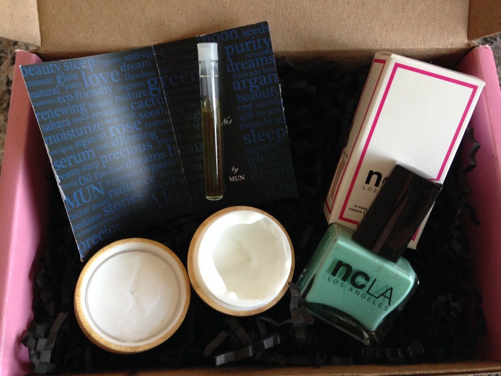 contents of petit vour june 2014 box removed from packaging