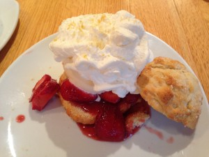cpk strawberry shortcake with whipped cream and ice cream