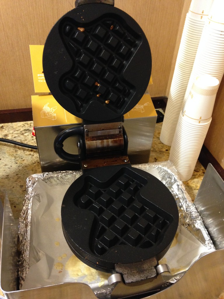 Final morning and I take advantage of the Texas waffle iron.