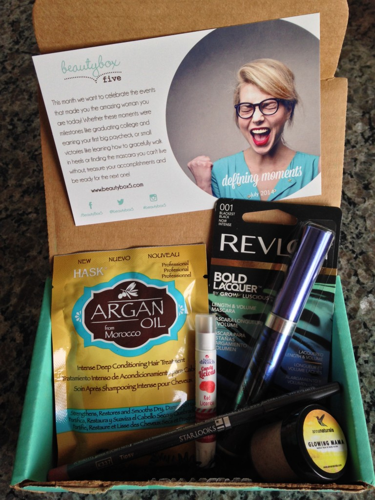 july 2014 beauty box 5 contents