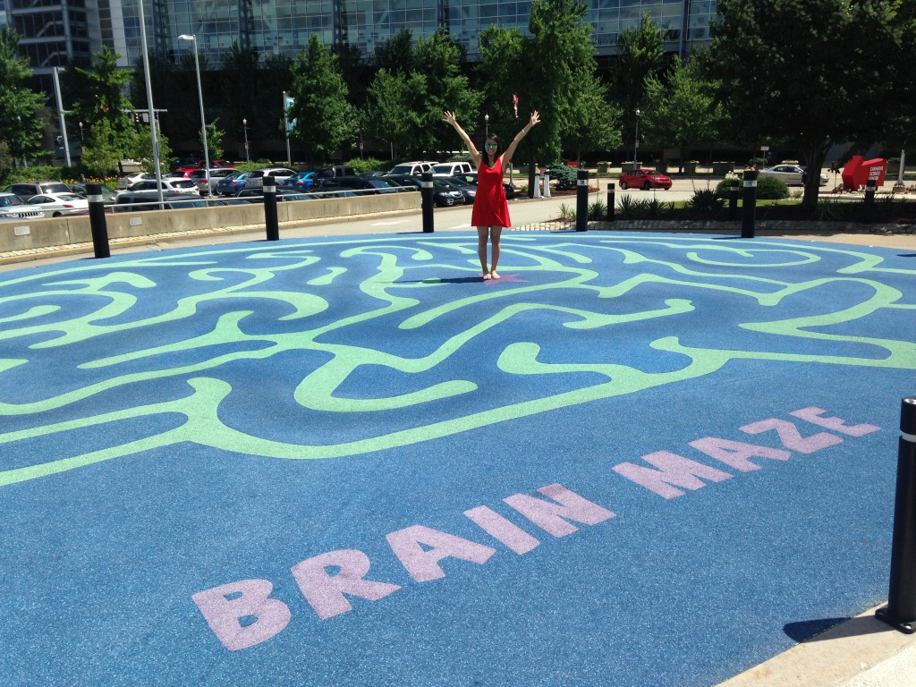 Outside the science center, we entered the Brain Maze.