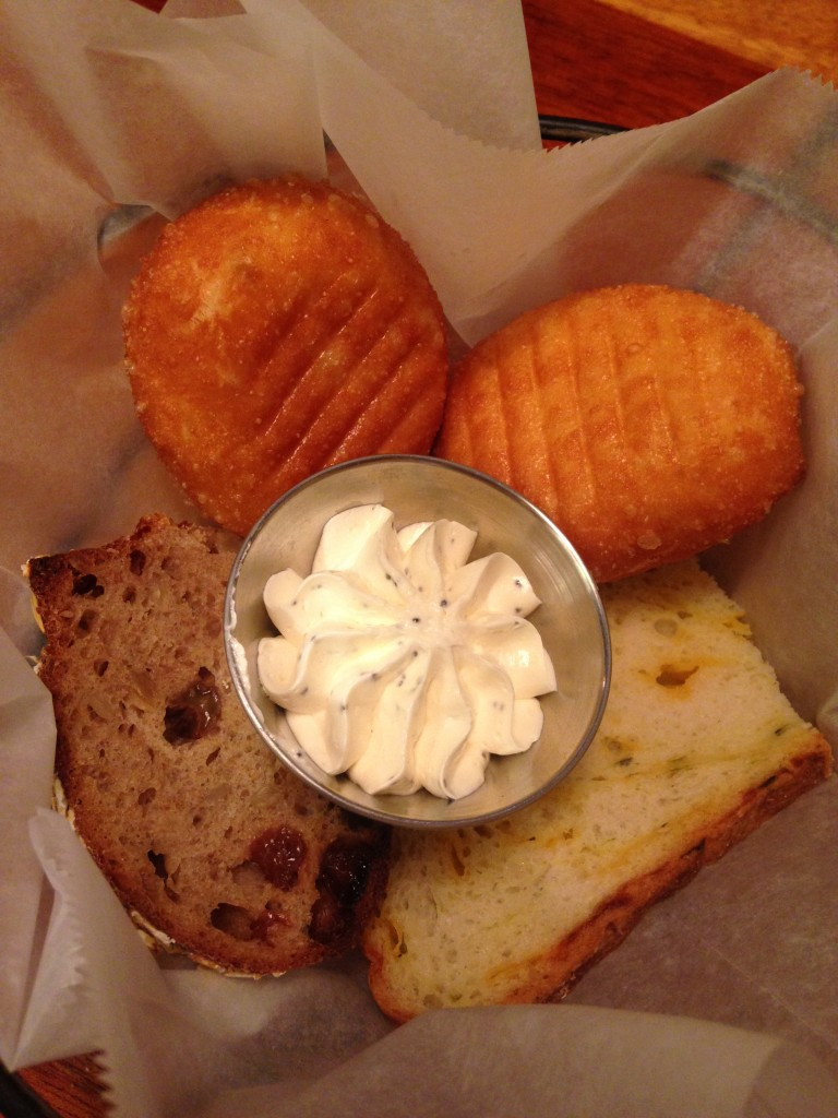 assorted bread and butter at coastal flats