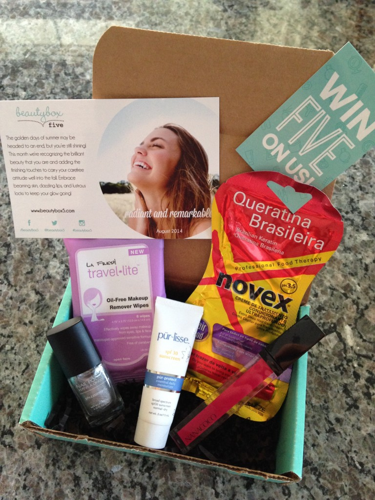 august 2014 beauty box 5 contents
