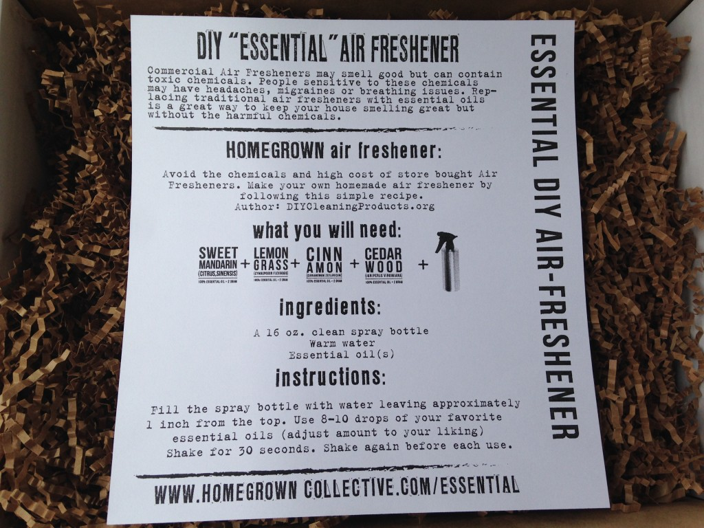 the homegrown collective july 2014 project essential diy air freshener info card