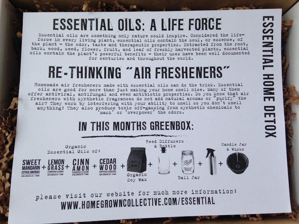 the homegrown collective july 2014 essential oils info card