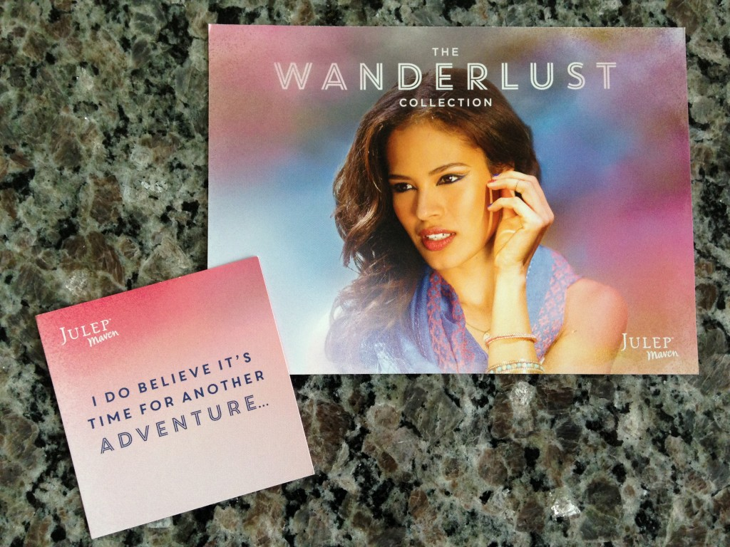 julep wanderlust collection card and quote card