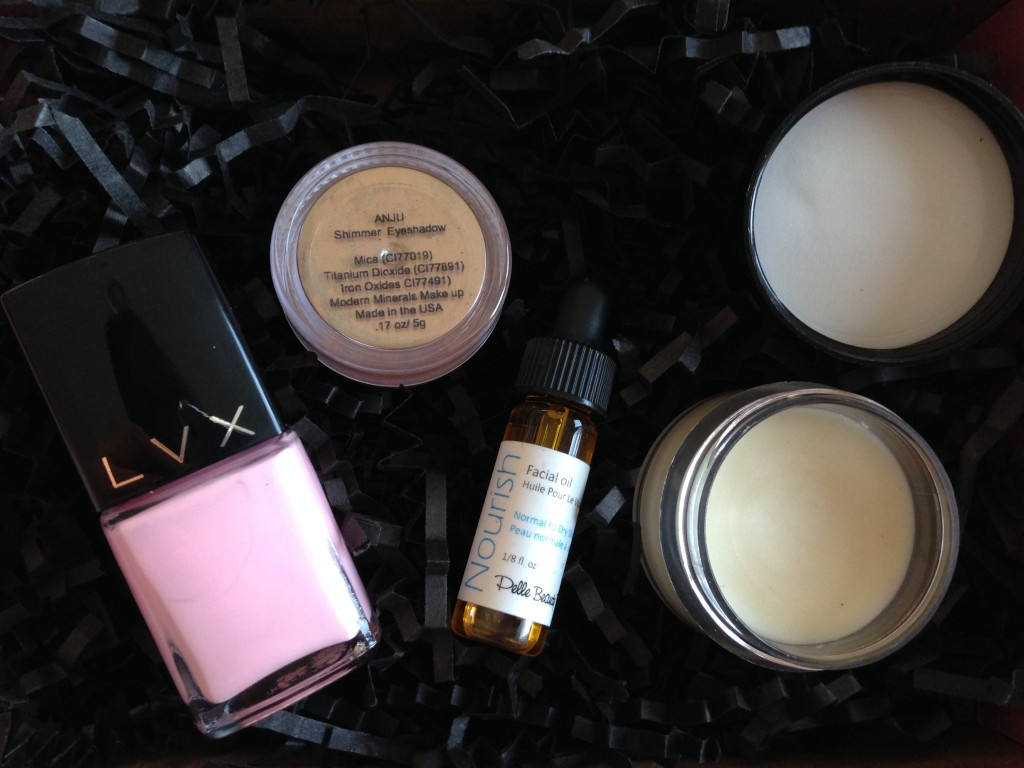 contents of petit vour july 2014 box removed from packaging