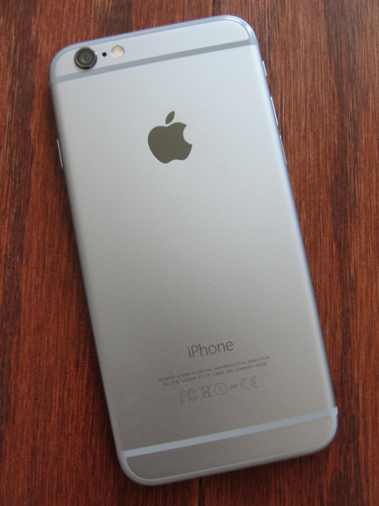 back of iphone 6 in space gray