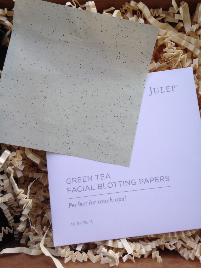 julep green tea facial blotting papers