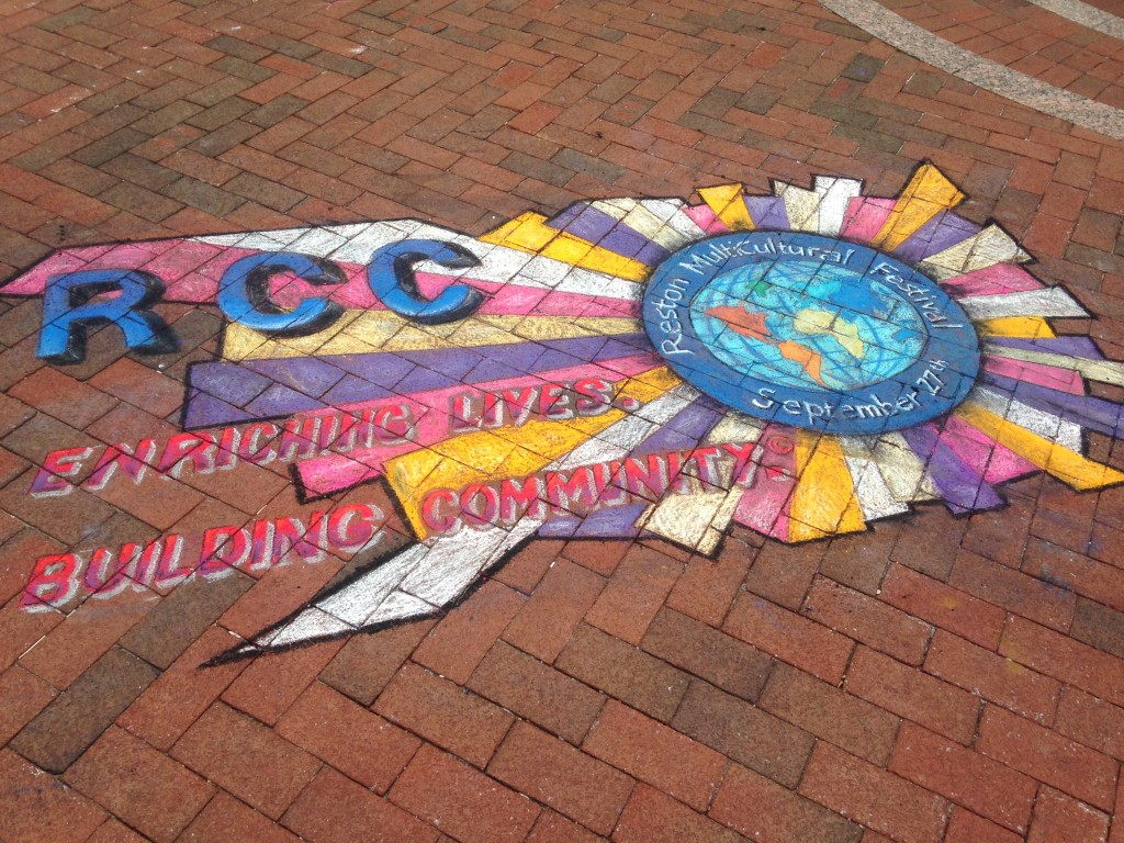 chalkfest reston chalk art drawing of host rcc