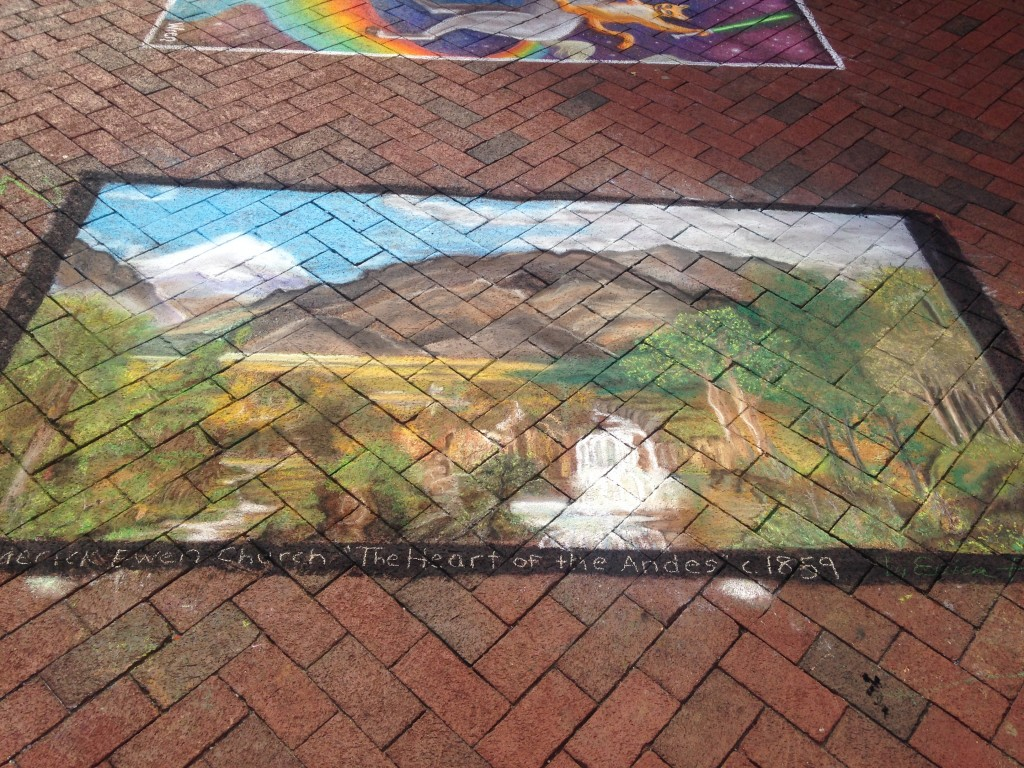 chalkfest reston chalk art drawing of landscape