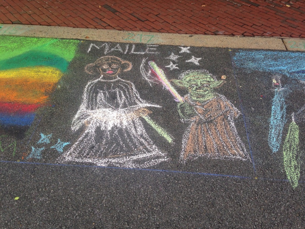 chalkfest reston chalk art drawing of star wars characters