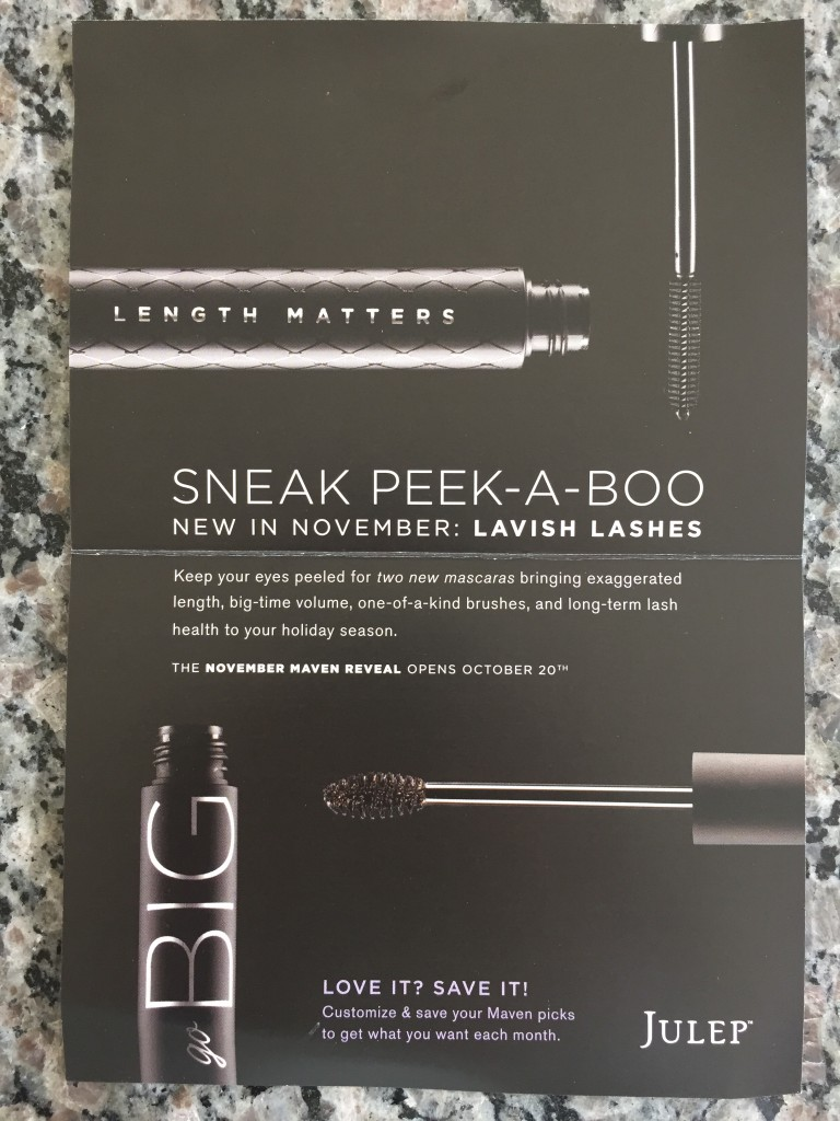 julep new mascaras sneak peek card