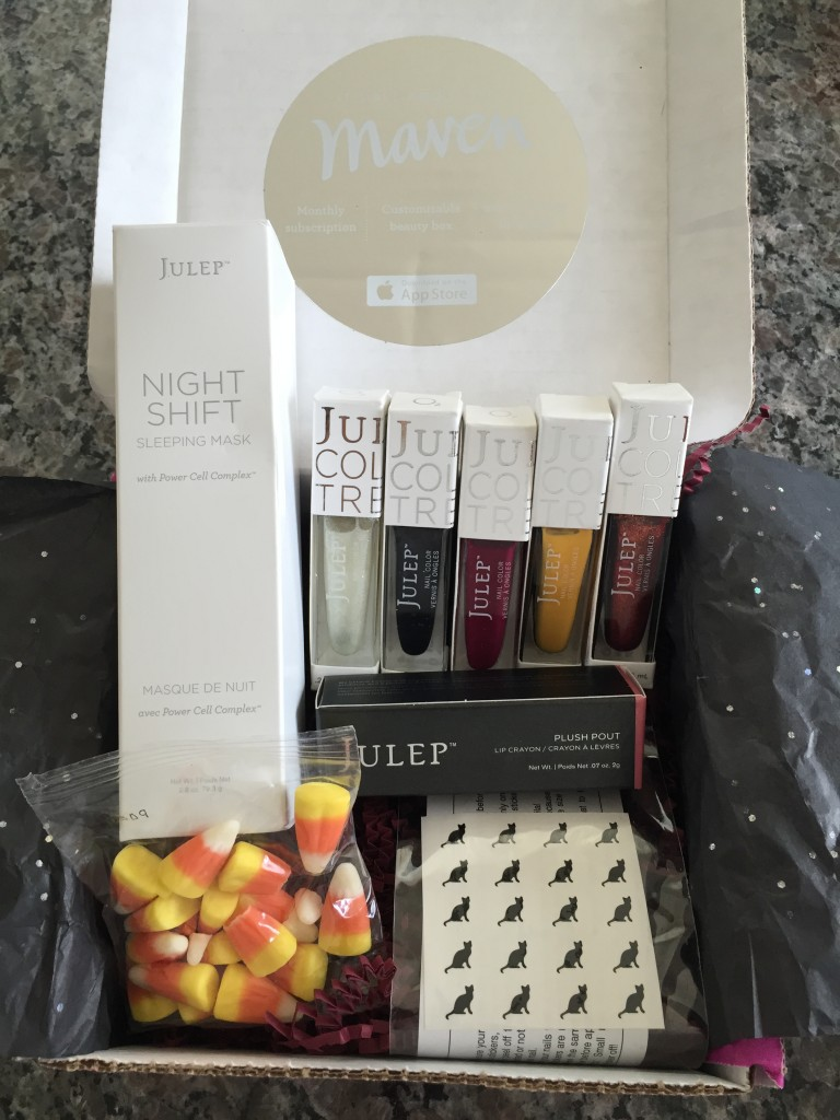 julep maven october 2014 black magic collection box contents