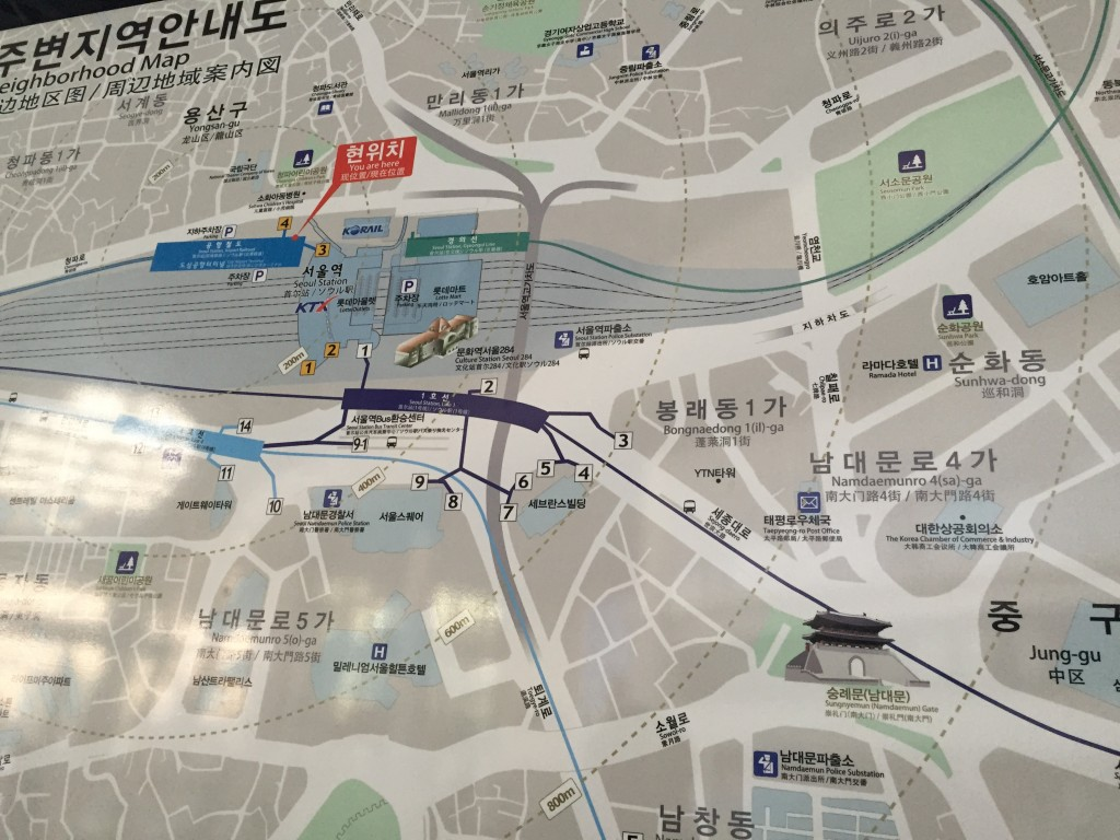 map of seoul station and surrounding area