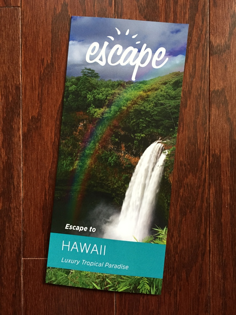 escape monthly november hawaii box info card