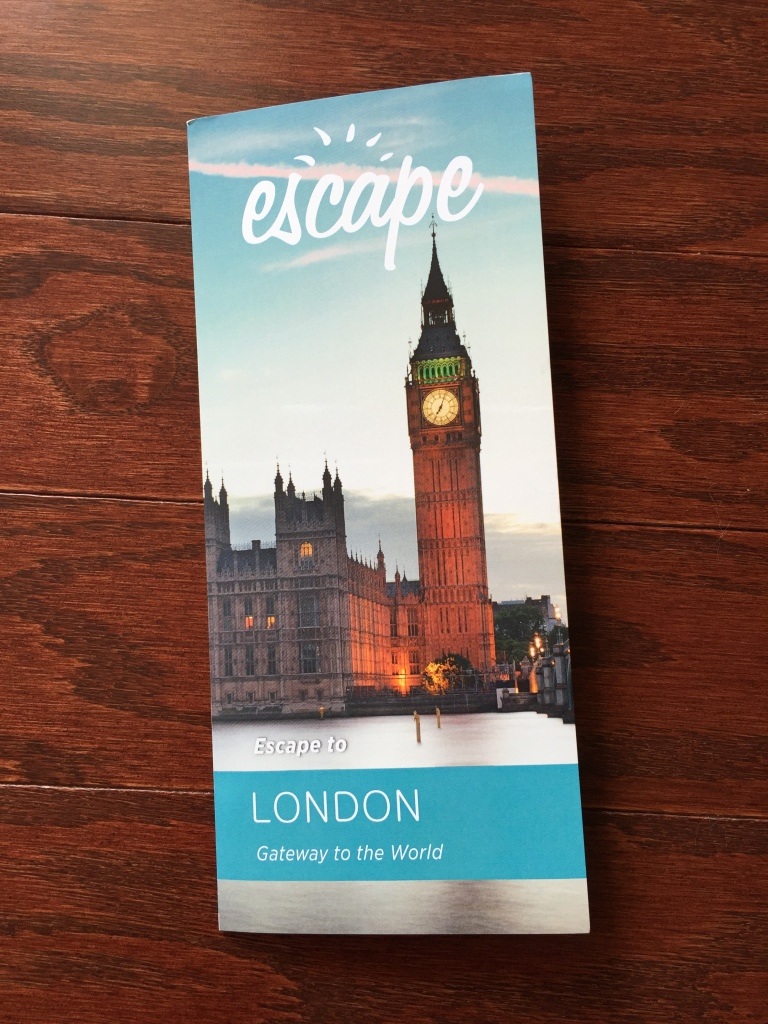 escape monthly october london box info card