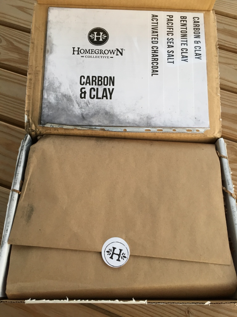 inside of carbon & clay homegrown collective box with the info sheets on the inner lid