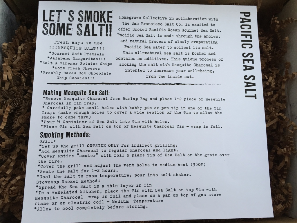 the homegrown collective october 2014 project pacific sea salt info card