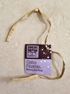 joyful bath co oatsy floatsie tag