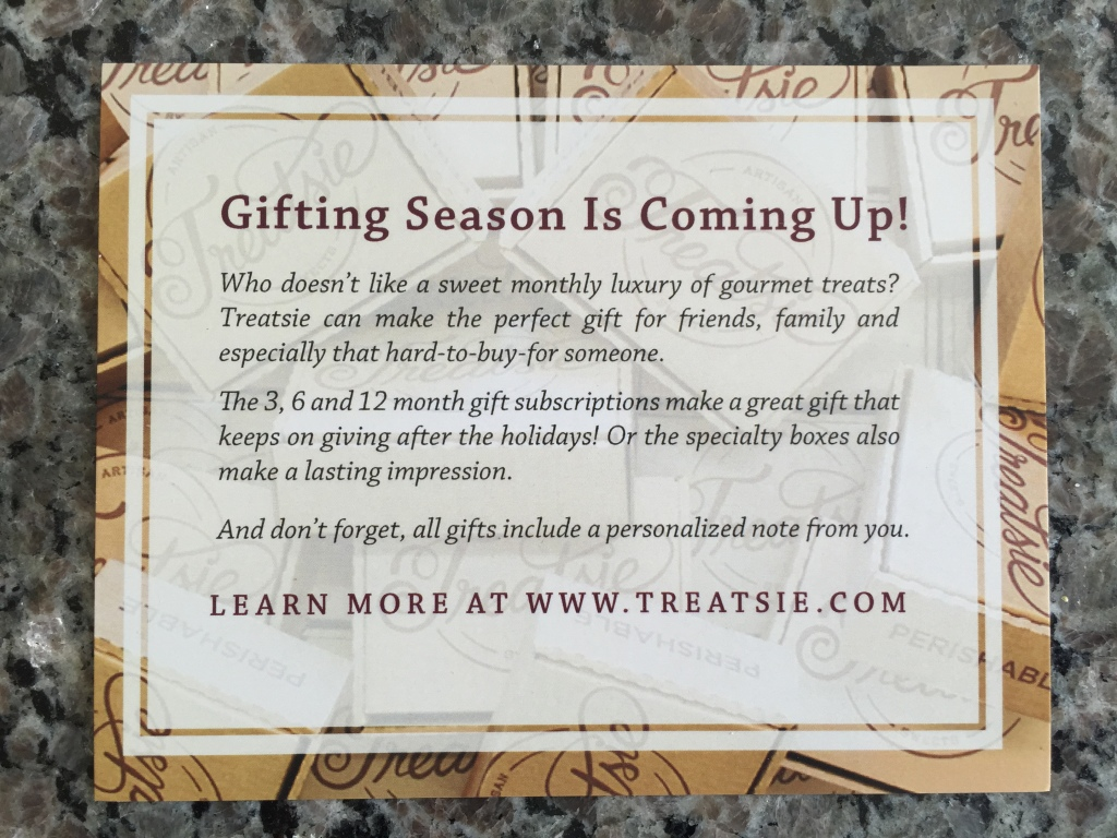 treatsie gifting subscriptions info card