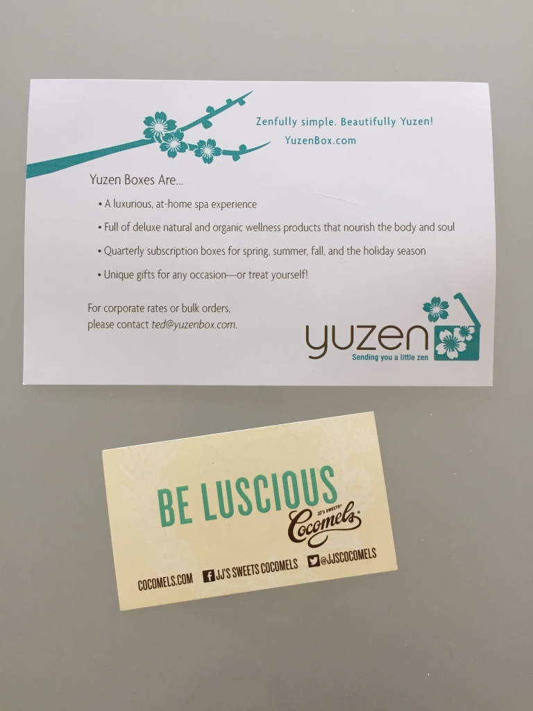 yuzen november-january 2014 winter box offer cards back