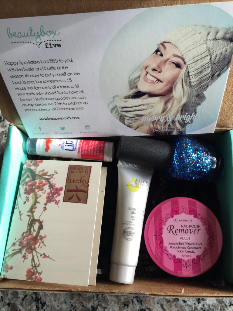 december 2014 beauty box 5 contents