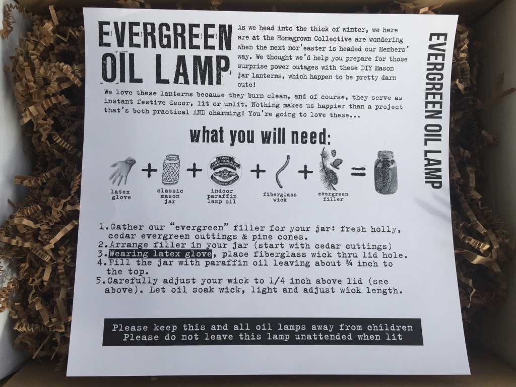 the homegrown collective november 2014 project evergreen oil lamp info card