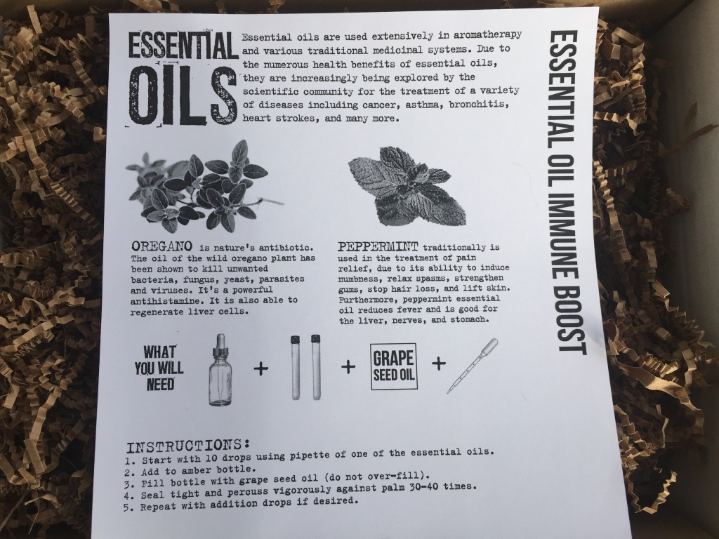 the homegrown collective november 2014 project essential oil immune boost info card