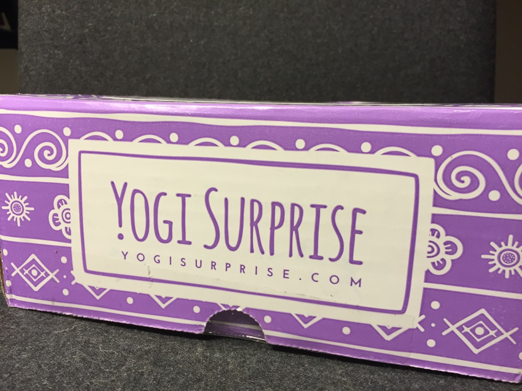 front of yogi surprise purple box