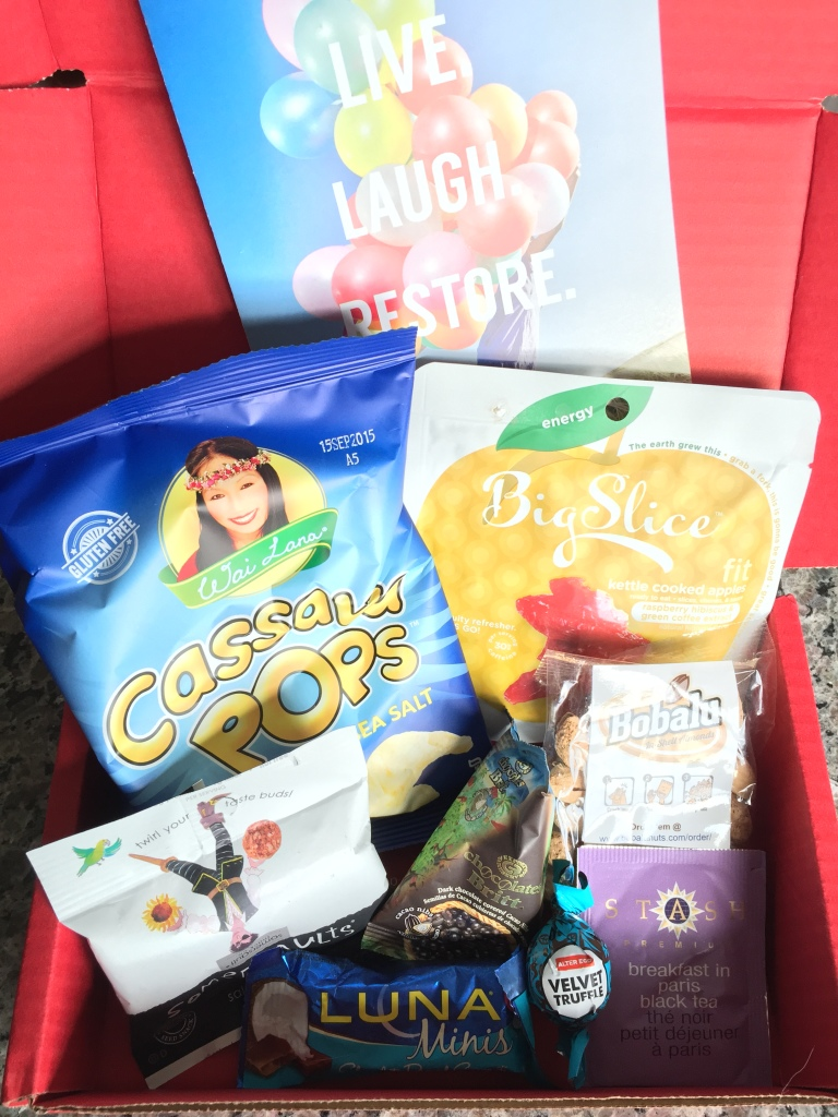 contents of january 2015 love with food box including eight snacks