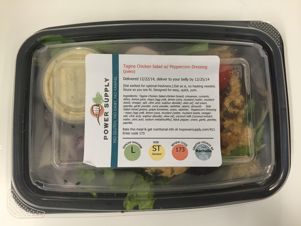 power supply tagine chicken salad with peppercorn dressing mixitarian/paleo lunch meal in box
