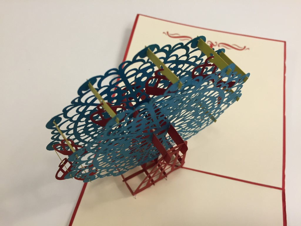 colorful 3d ferris wheel card top