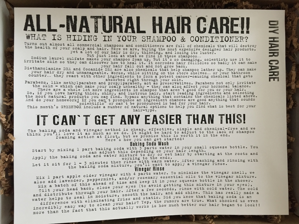 the homegrown collective january 2015 diy hair care info card
