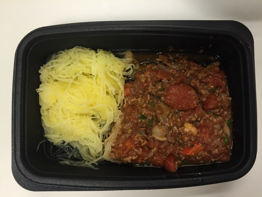 power supply mushroom and beef bolognese over spaghetti squash mixitarian/paleo dinner meal open