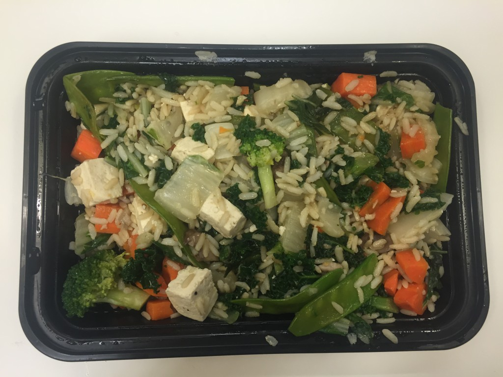 power supply bok choy, carrot, mushroom & tofu stir-fry vegetarian lunch meal open