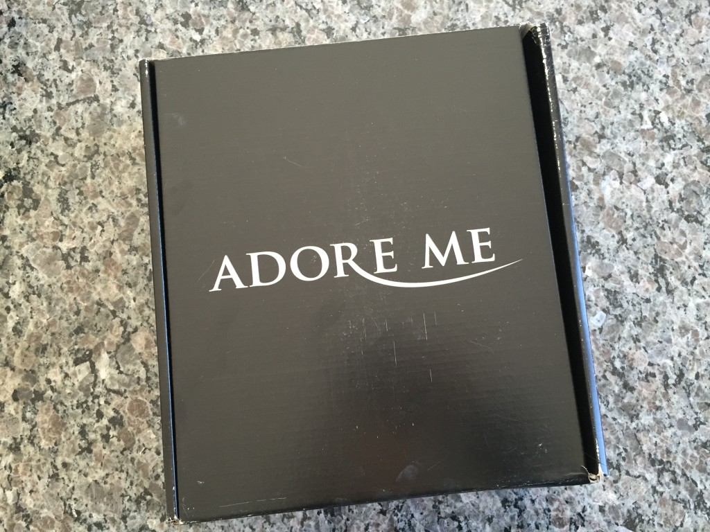 black adoreme box with white lettering