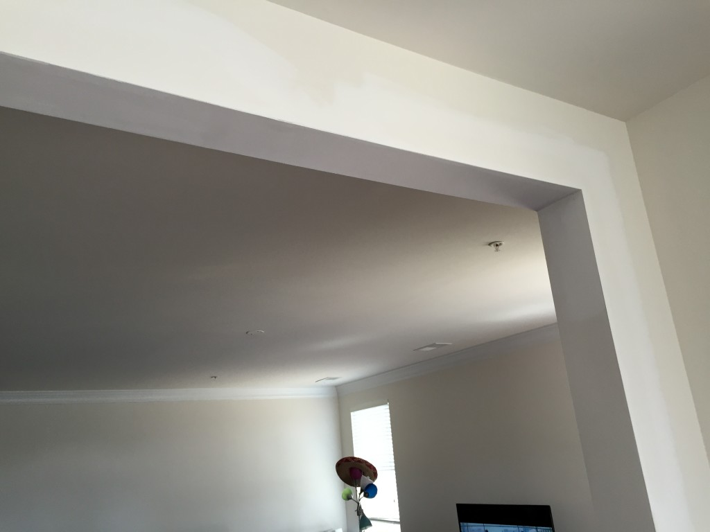 fresh drywall needing paint