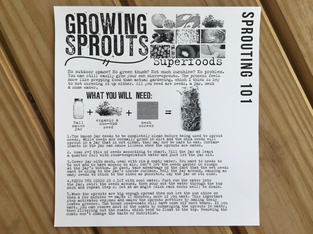 the homegrown collective april 2015 project growing sprouts info card