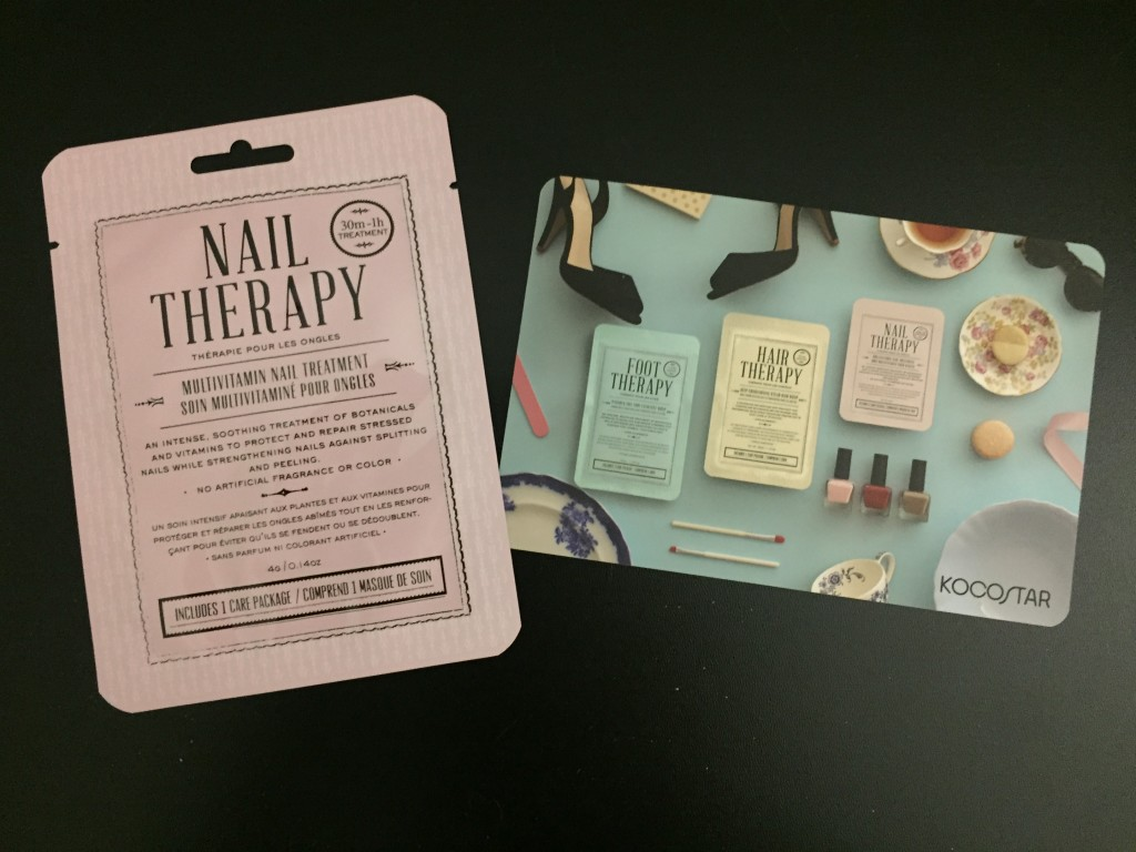 kocostar nail therapy treatment pack with info card