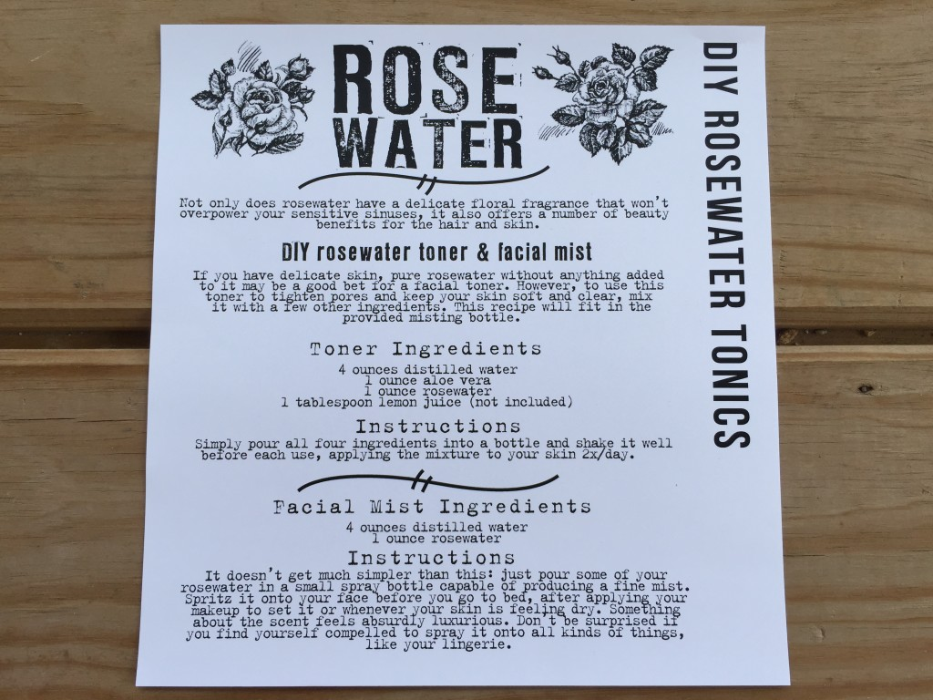the homegrown collective may 2015 project diy rosewater tonics info card