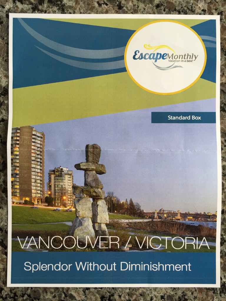 escape monthly june victoria/vancouver box info sheet