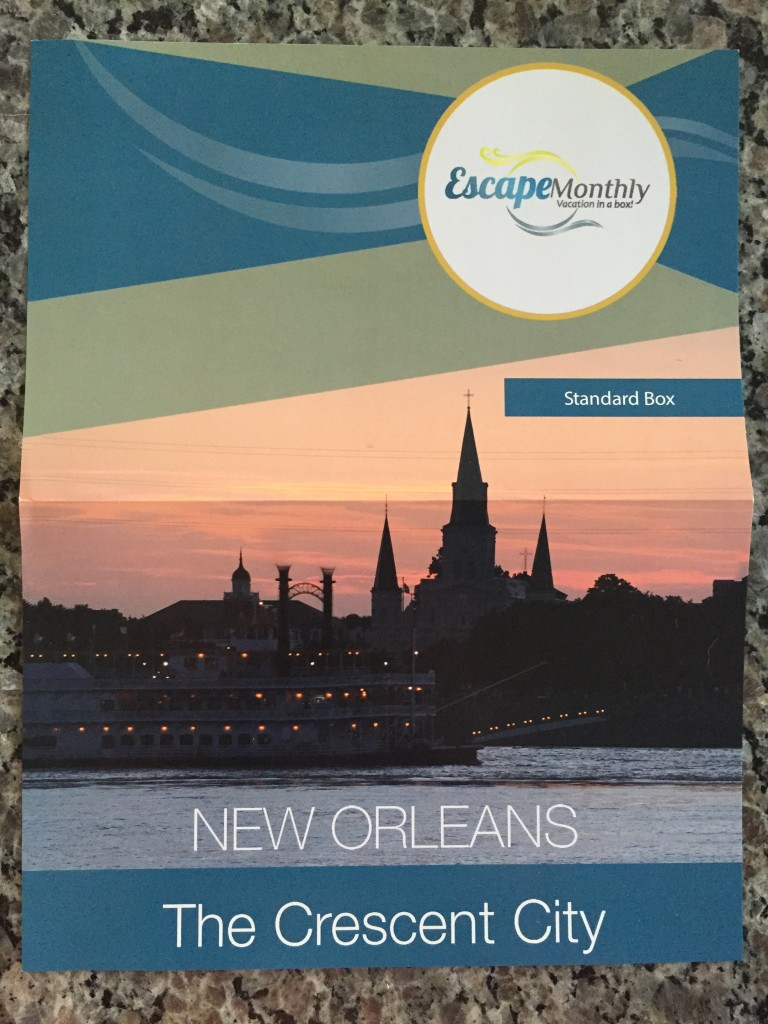 escape monthly july new orleans box info sheet
