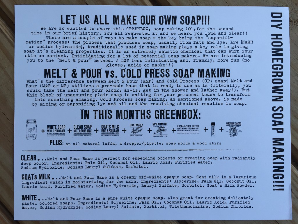 the homegrown collective july 2015 diy homegrown soap making info card