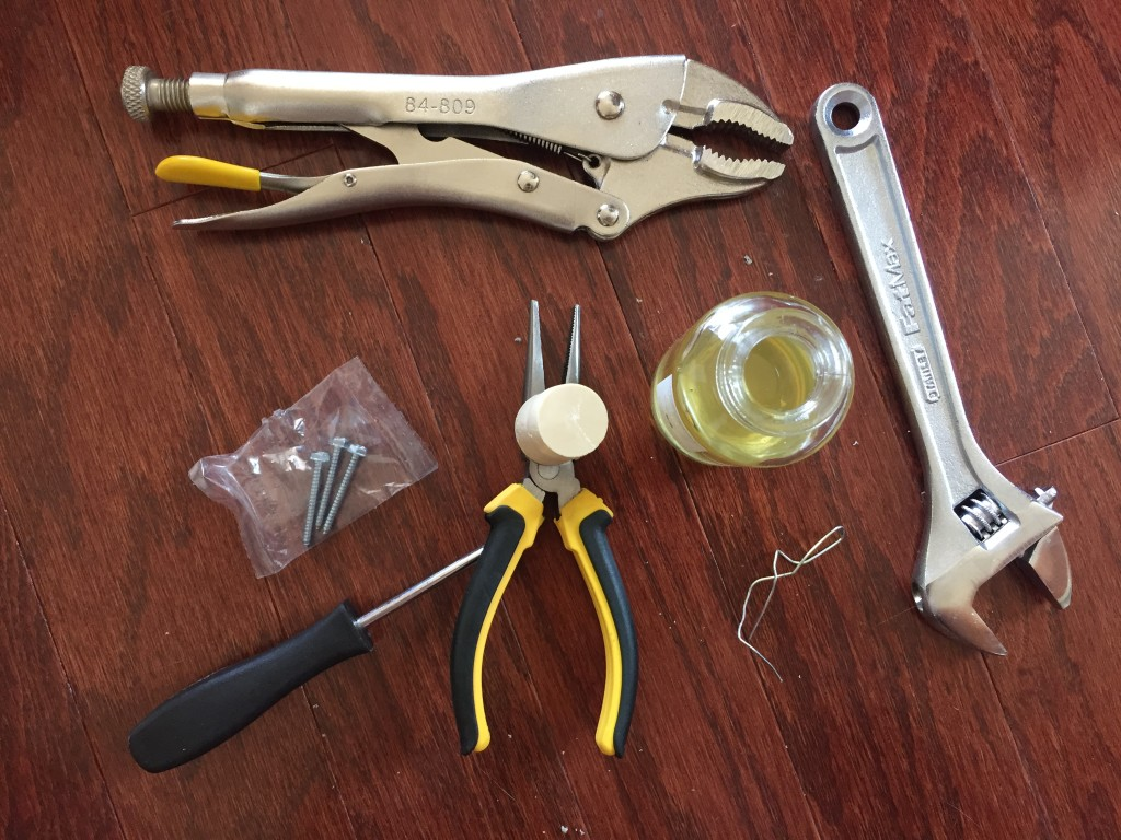tools used attempting to open dani naturals reed diffuser bottle