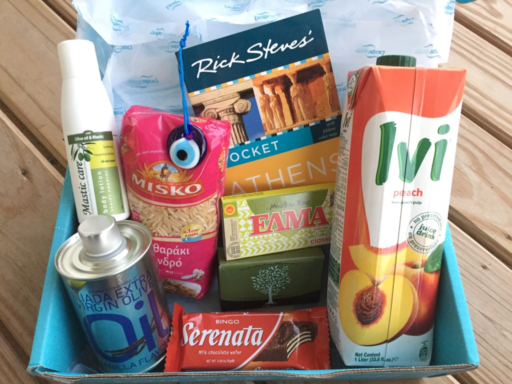 escape monthly september greece box products showing