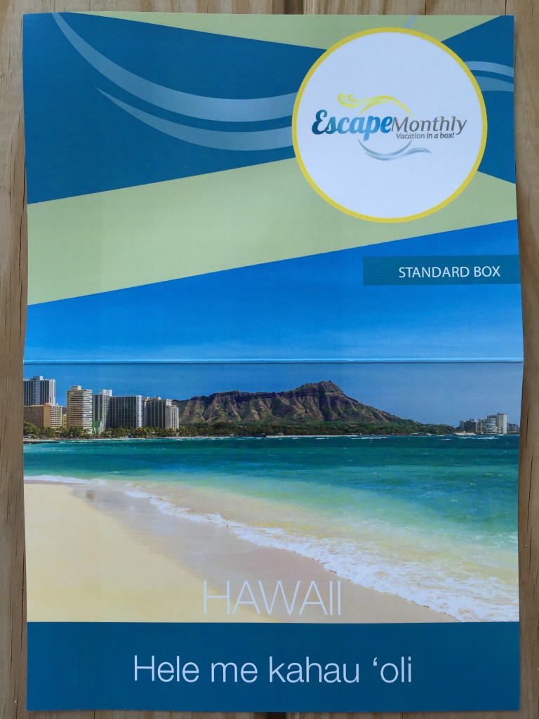 escape monthly august hawaii box info sheet