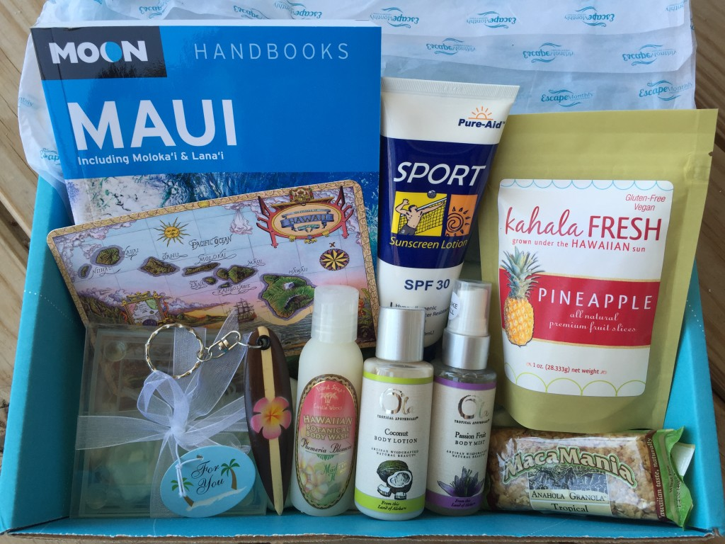 escape monthly august hawaii box products showing